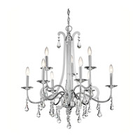 Kichler 42546CH Leanora 9 Light 34 inch Chrome Chandelier Ceiling Light
