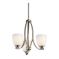 Granby 3 Light 19 inch Brushed Pewter Chandelier Ceiling Light in Fluorescent