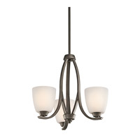 Kichler 42556OZFL Granby 3 Light 19 inch Olde Bronze Chandelier Ceiling Light in Fluorescent