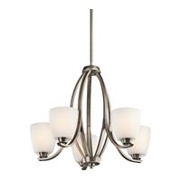 Kichler 42557BPTFL Granby 5 Light 24 inch Brushed Pewter Chandelier Ceiling Light in Fluorescent