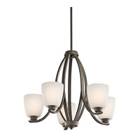 Kichler 42557OZFL Granby 5 Light 24 inch Olde Bronze Chandelier Ceiling Light in Fluorescent