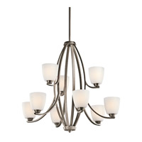 Kichler 42559BPT Granby 9 Light 33 inch Brushed Pewter Chandelier Ceiling Light