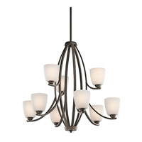 Kichler 42559OZ Granby 9 Light 33 inch Olde Bronze Chandelier Ceiling Light
