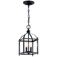 Kichler 42565BK Larkin 2 Light 8 inch Black Indoor Lantern Pendant Ceiling Light