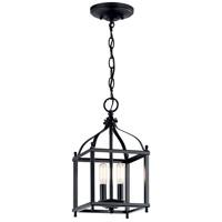 Kichler 42565BK Larkin 2 Light 8 inch Black Indoor Lantern Pendants Ceiling Light
