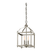 Larkin 2 Light 8 inch Brushed Nickel Foyer Pendant Ceiling Light