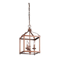 Kichler Larkin 3 Light Foyer Pendant in Antique Copper 42566ACO