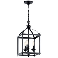 Kichler 42566BK Larkin 3 Light 12 inch Black Foyer Pendant Ceiling Light
