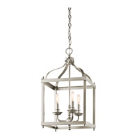 Larkin 3 Light 12 inch Brushed Nickel Foyer Pendant Ceiling Light