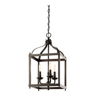 Kichler 42566OZ Larkin 3 Light 12 inch Olde Bronze Foyer Pendant Ceiling Light