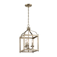 Larkin 3 Light 12 inch Sterling Gold Pendant Ceiling Light
