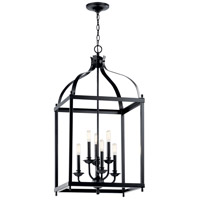 Kichler 42568BK Larkin 6 Light 18 inch Black Chandelier Ceiling Light