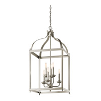 Kichler 42568NI Larkin 6 Light 18 inch Brushed Nickel Foyer Pendant Ceiling Light