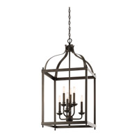 Kichler 42568OZ Larkin 6 Light 18 inch Olde Bronze Foyer Pendant Ceiling Light