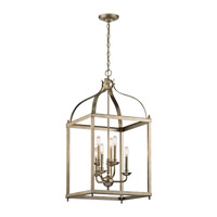 Larkin 6 Light 18 inch Sterling Gold Foyer Chandelier Ceiling Light