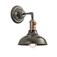 Kichler 42579OZ Cobson 1 Light 8 inch Olde Bronze Mini Pendant Ceiling Light, Convertible to Wall Sconce alternative photo thumbnail