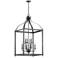Kichler 42591BK Larkin 8 Light 24 inch Black Chandelier Ceiling Light