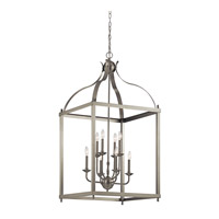 Kichler 42591NI Larkin 8 Light 24 inch Brushed Nickel Chandelier Ceiling Light