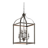 Kichler 42591OZ Larkin 8 Light 24 inch Olde Bronze Chandelier Ceiling Light