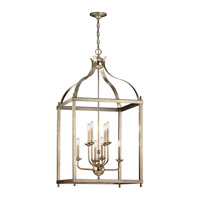Larkin 8 Light 24 inch Sterling Gold Foyer Chandelier Ceiling Light