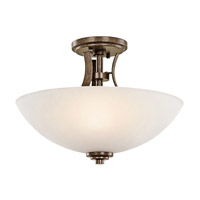 Kichler Lighting Coburn 3 Light Semi-Flush in Old Iron 42605OI
