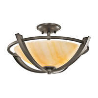 Kichler Lighting Carthage 2 Light Semi-Flush in Olde Bronze 42617OZ