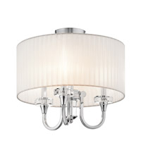 Parker Point 3 Light 17 inch Chrome Semi-Flush Ceiling Light