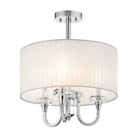 Kichler 42630CH Parker Point 3 Light 17 inch Chrome Semi-Flush Ceiling Light alternative photo thumbnail