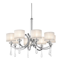 Parker Point 8 Light 36 inch Chrome Chandelier Ceiling Light