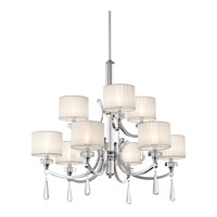 Parker Point 9 Light 36 inch Chrome Chandelier Ceiling Light