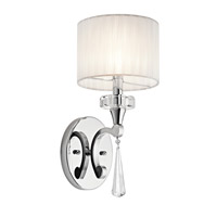 Parker Point 1 Light 7 inch Chrome Wall Sconce Wall Light