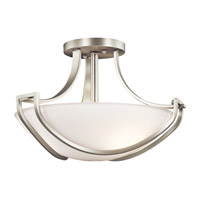 Kichler Lighting Owego 3 Light Semi-Flush in Brushed Nickel 42651NI
