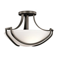 Kichler Lighting Owego 3 Light Semi-Flush in Olde Bronze 42651OZ photo thumbnail