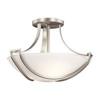 Kichler Lighting Owego 3 Light Semi-Flush in Brushed Nickel 42652NI