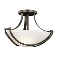 Kichler Lighting Owego 3 Light Semi-Flush in Olde Bronze 42652OZ