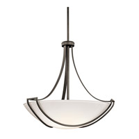 Kichler Lighting Owego 4 Light Inverted Pendant in Olde Bronze 42654OZ photo thumbnail