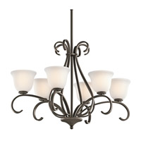 Kichler Lighting Sherbrooke 6 Light Chandelier in Olde Bronze 42675OZ