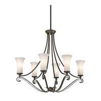 Kichler Lighting Wickham 6 Light Chandelier in Olde Bronze 42702OZ photo thumbnail
