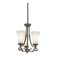 Kichler Lighting Wickham 3 Light Mini Chandelier in Olde Bronze 42705OZ photo thumbnail