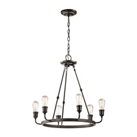 Kichler 42708OZ Lucien 6 Light 25 inch Olde Bronze Chandelier 1 Tier Medium Ceiling Light