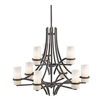 Kichler Lighting Beckett 9 Light Chandelier in Anvil Iron 42722AVI photo thumbnail