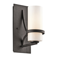Kichler Lighting Beckett 1 Light Wall Sconce in Anvil Iron 42724AVI
