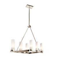 Kichler Savina 6 Light Chandelier Linear (Double) in Polished Nickel 42745PN