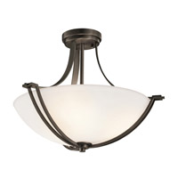 Kichler Lighting Chatham 3 Light Semi-Flush in Olde Bronze 42766OZ
