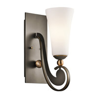 Kichler Lighting Clermont 1 Light Wall Sconce in Olde Bronze 42789OZ