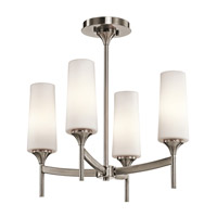 Kichler Lighting Kinsley 4 Light Semi-Flush in Classic Pewter 42809CLP
