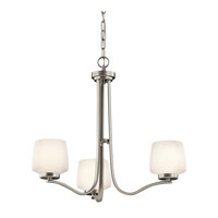Kichler Lighting Truett 3 Light Chandelier in Brushed Nickel 42829NI