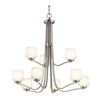 Kichler Lighting Truett 9 Light Chandelier in Brushed Nickel 42832NI photo thumbnail