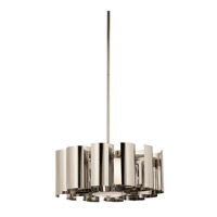 Kichler Lighting Ziva 1 Light Pendant in Polished Nickel 42835PN
