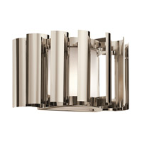 Kichler Lighting Ziva 1 Light Wall Sconce in Polished Nickel 42837PN
